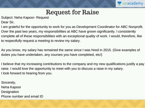 how to request a raise in writing