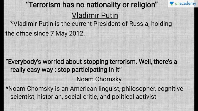stopping terrorism essay