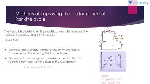 Methods of Improving the Efficiency in Rankine Cycle