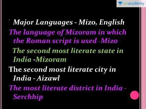 Madison : Mizoram language