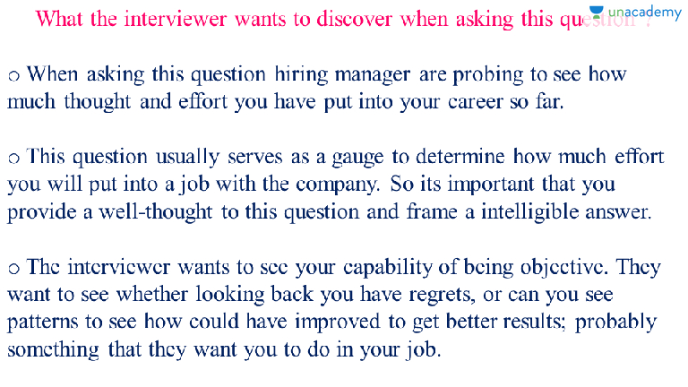 Interview Questions How Could You Have Improved Your Career Progress