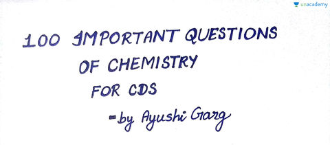 Hindi) 100 Important Questions of Chemistry for CDS / AFCAT