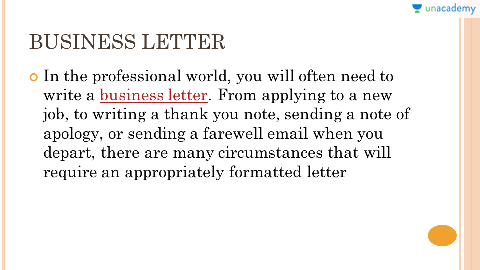 a business letter