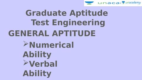 GATE (General Aptitude Test in Engineering) - Unacademy