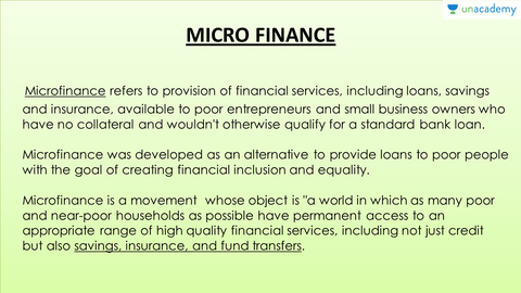 a description of microfinance services referred to the provision of microcredit services Best answer: microfinance is the provision of a broad range of financial services such as deposits, loans, payment services, money transfers insurance to poor and low-income households and their microenterprises three types of sources of microfinance are formal institutions - ie rural banks and cooperatives semiformal.