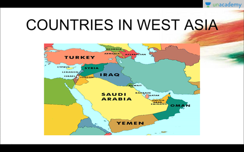 West Asia In Hindi Hindi Learn To Master World Maps For Upsc
