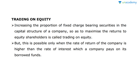 what is trading on equity