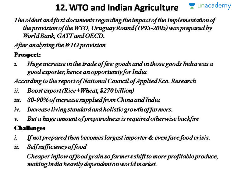 WTO AND INDIAN AGRICULTURE PDF