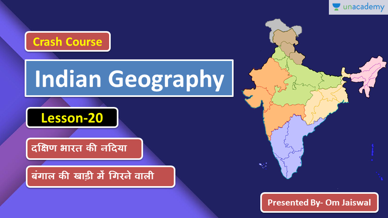 Indian Geography Crash Course Rivers of India South Indian River