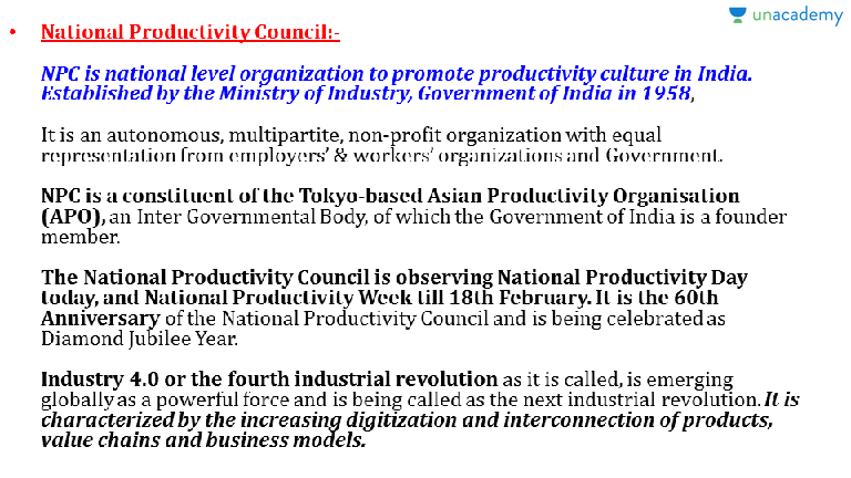 Asian productivity council opinion