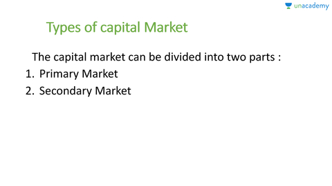 Types Of Capital Market Primary Market In Hindi Hindi - Primary market