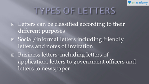 types of letters in hindi hindi letter writing formal and informal letters unacademy