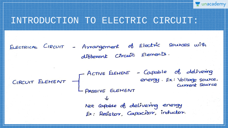 Introduction To Electrical Circuit And Active Circuit Element In Tamil Tamil Electric Circuits Basics Unacademy