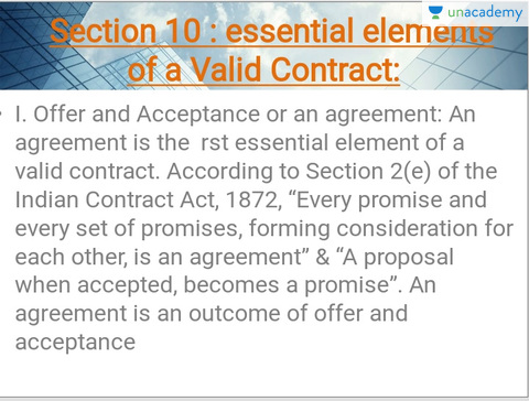 essential elements required for the formation of a valid contract