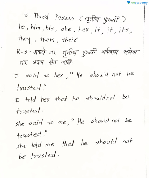 Rules for the Change of Pronouns (in Marathi)