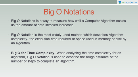 algorithm big o notation and log Big o notation appears in almost every interview, yet so many developers ( including me) suck at it  this makes log n algorithms very scalable.