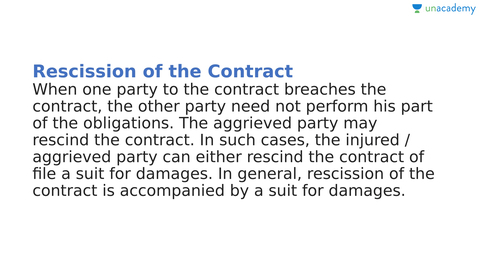 Remedies for Breach of Contract (in Malayalam)