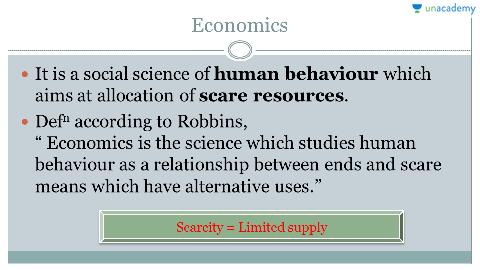 economics is a social science that studies human behaviour