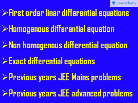 (Hindi) Differential Equations and Application of Integration: AOI