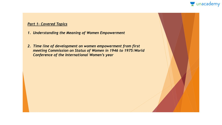 Definition, Scope, And Characteristics Of Women Empowerment | Women  Empowerment   Evergreen Social Issues For Government Exams   Unacademy