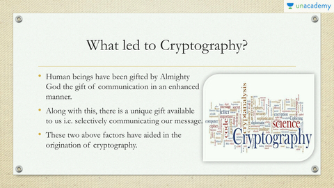 Cryptography and Cyber Security: GATE (CS and IT)