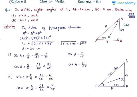 (Hindi) Chapter 8 Introduction to Trigonometry || Class 10 ...