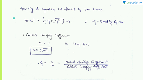 Overdamped And Critically Damped Systems Mechanical Vibrations