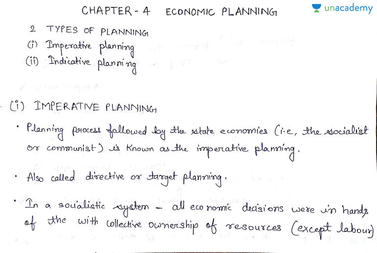 The nature of economic planning