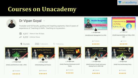 Dr Vipan Goyal - Unacademy