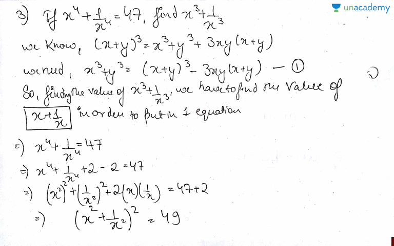 Questions On Algebraic Identities Part  Hindi Introduction To Polynomials For Cbse Class Ix Unacademy