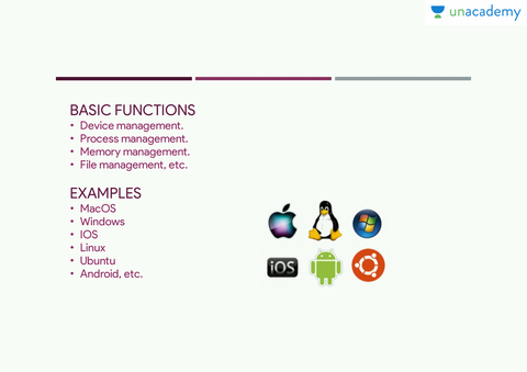 single user multitasking operating system examples