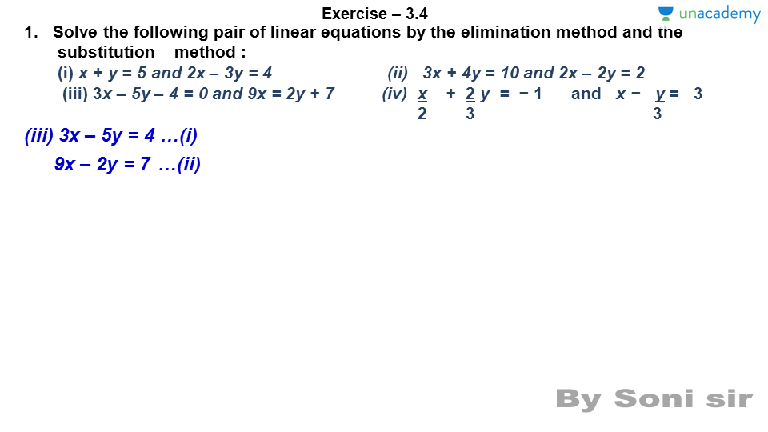 exercise 2.3 class 8 question 1