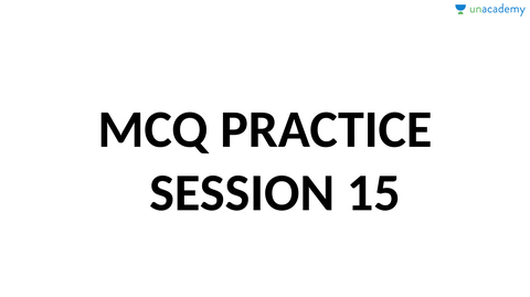Expected Mcq Practice Session 15 (in Hindi)