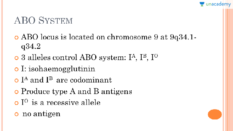 Abo blood group genetics nice