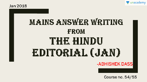 Overview of the Course (in Hindi)   (Hindi) January 2018
