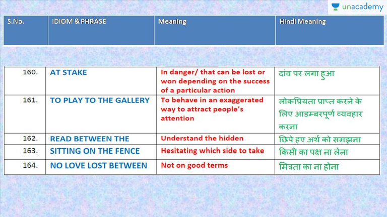 No love lost between idiom meaning in hindi