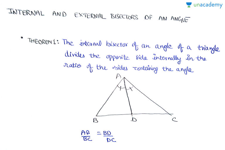 Internal And External Angle Bisectors | Strengthening The Concepts Of  Triangle: Class 10th   Unacademy