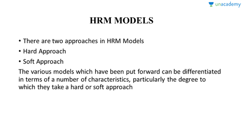 hard model of hrm