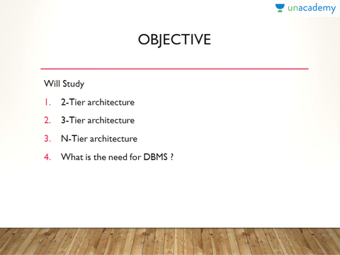 2 Level And 3 Level Architecture Of Dbms Database Er Model From