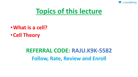 (Telugu) CBSE Class 11 Biology, Chapter 8 : Cell: The Unit of Life