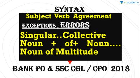 Singular Collective Noun Of Noun Of Multitude Syntax Subject