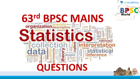 63rd BPSC Mains Practice for GS1 :Statistics Questions(in hindi)