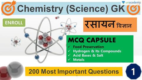 CHEMISTRY MCQs Part-1 (in Hindi)