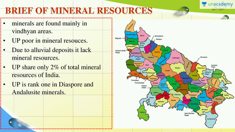 Distribution of Mineral Resources in UP: Part 1 (in Hindi)