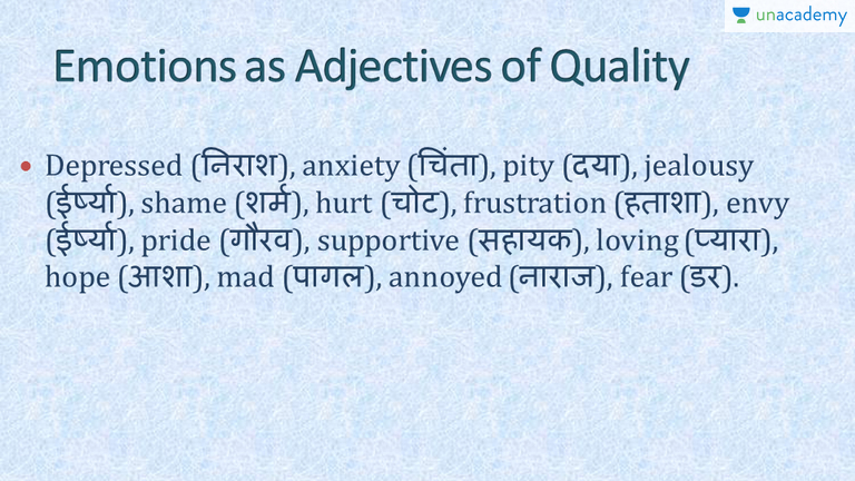 List Of Adjectives Quality 1 In Hindi Let's Learn. List Of Adjectives Quality 1 In Hindi Let's Learn By Wren And Martin Unacademy. Worksheet. Worksheet On Adjectives Of Quality At Clickcart.co