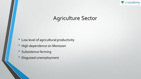 low agricultural productivity