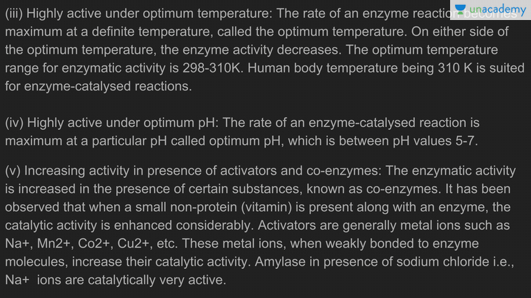 characteristics of enzymes