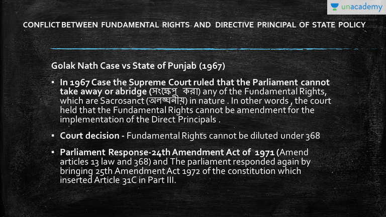 explain the ways of resolving the conflict between fundamental rights and directive principles
