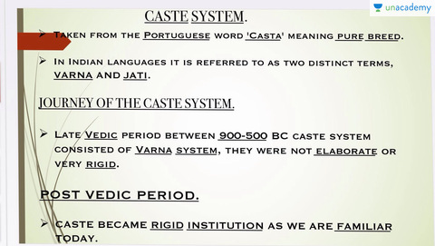 what is the meaning of caste system