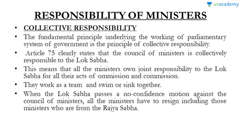 collective and individual ministerial responsibility Ministerial responsibility is an oath taken by ministers that what is ministerial responsibility a: and they have an individual and collective duty to the.